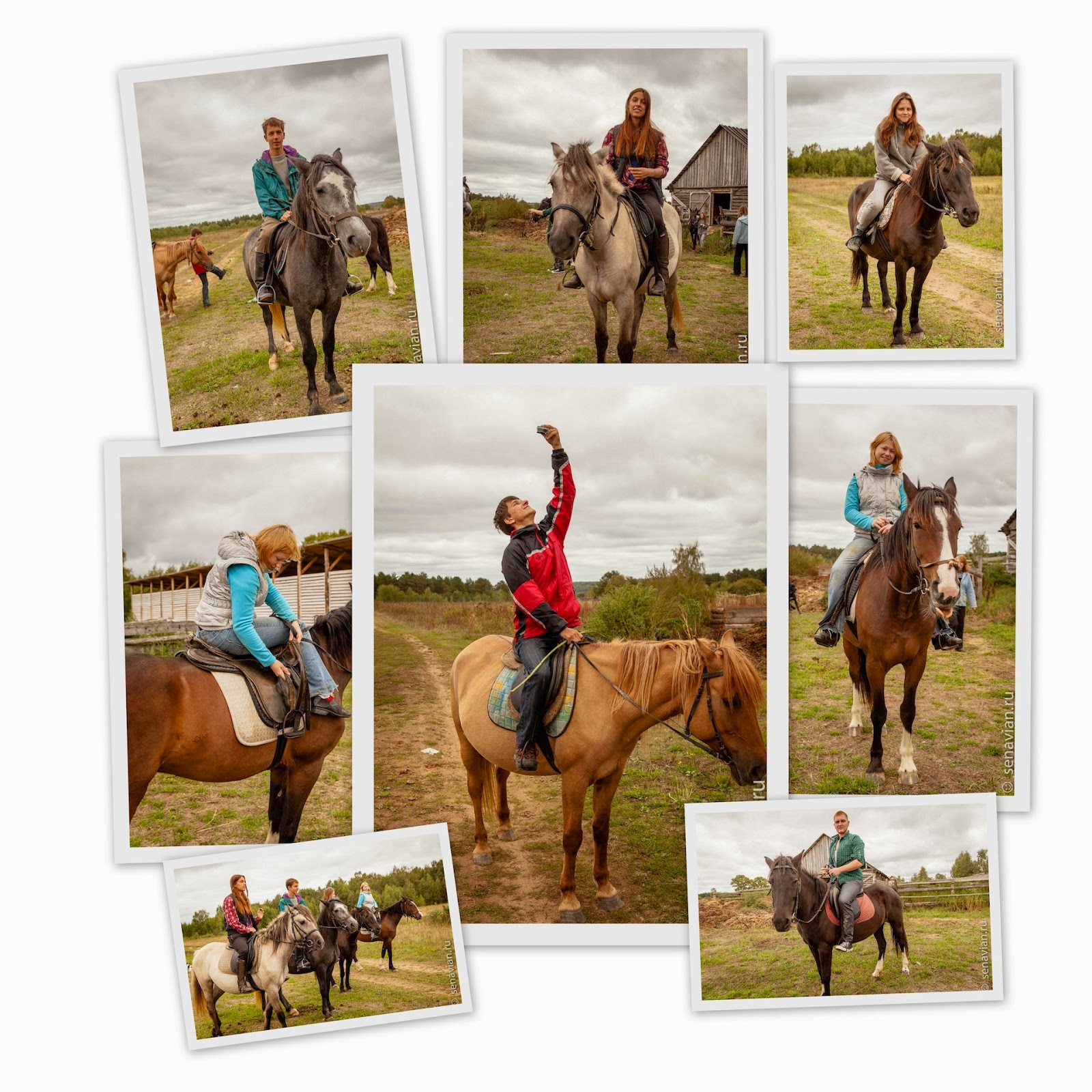 Отдых в деревне и прогулки на лошадях в последний день лета.