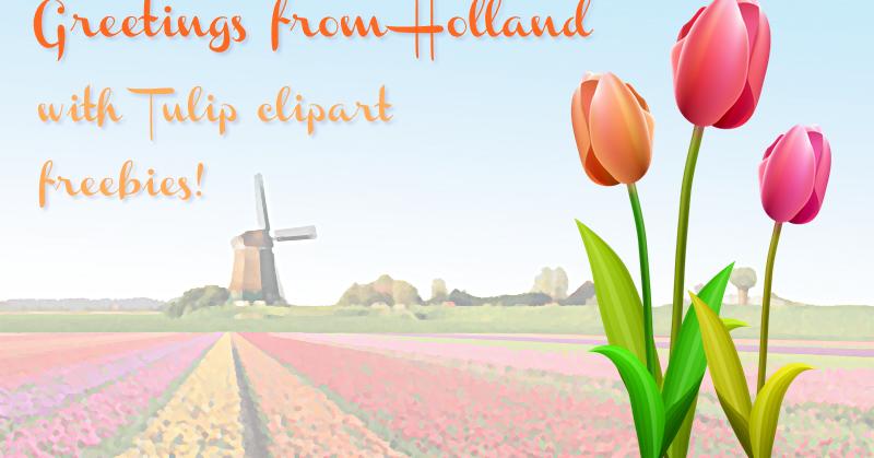Freebie fridays 44 tulips from holland the dutch lady designs m4hsunfo