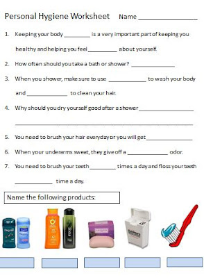 Crazy image for free printable personal hygiene worksheets