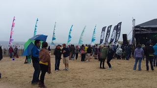 Raining at Electric beach Festival Cornwall