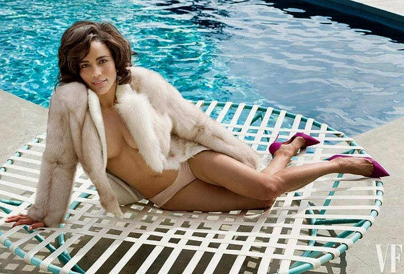 Paula Patton is a beautiful actress who has a unique face, and judging her appearance in the June 2014 edition of Vanity Fair. . . .  It's amazing.