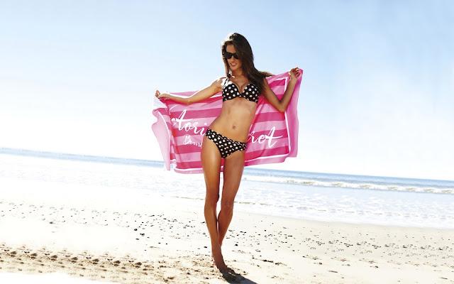 Alessandra Ambrosio on the Beach