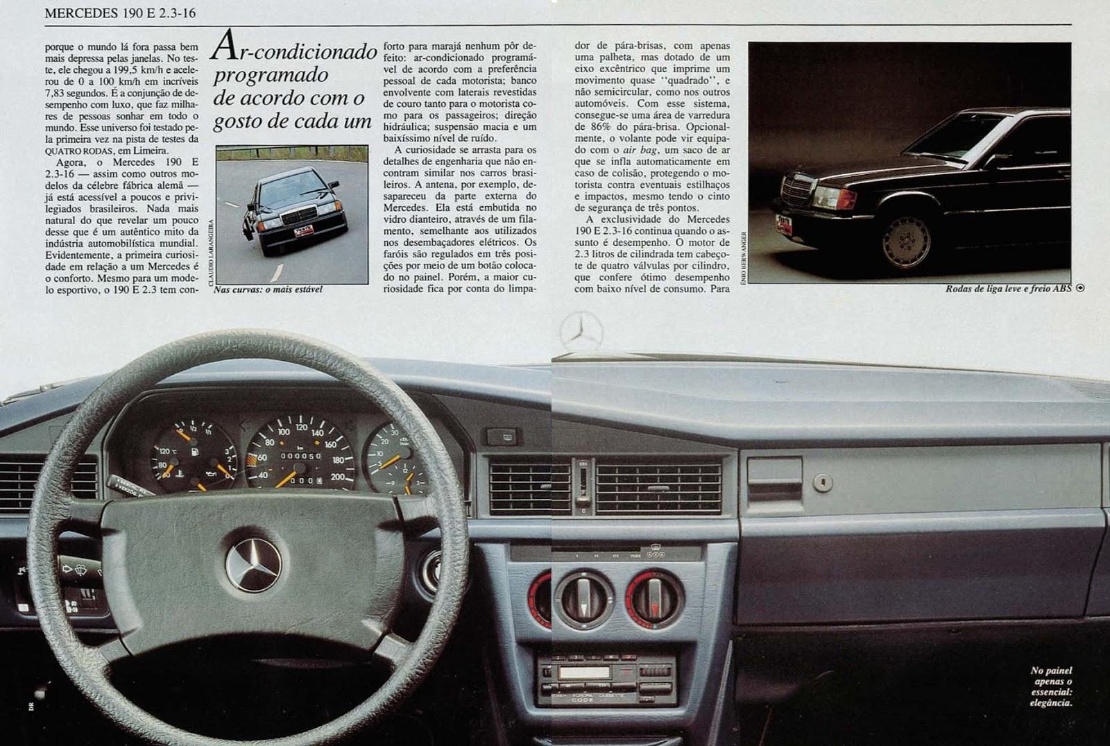 (W201): Avaliação Revista Quatro Rodas - outubro de 1990 - 190E 2.3 363%252C051%252C31%252C10%252CTE