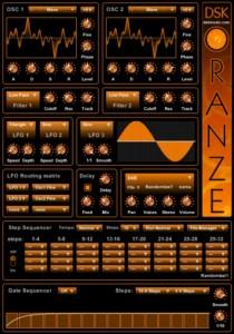 DSK OranZe - Super Synth com Desenho de Ondas