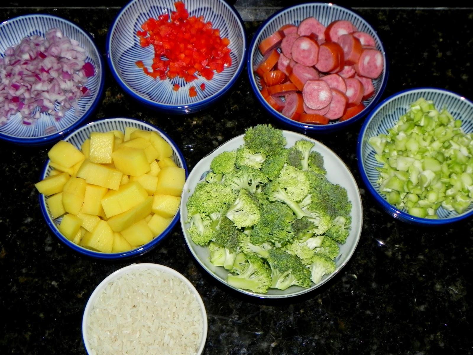 como fazer arroz com calabresa