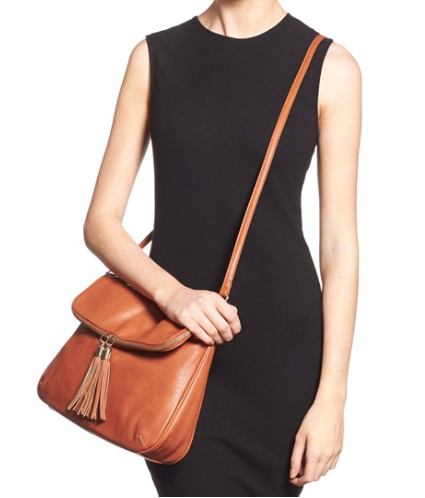 Faux leather cross body bag $36!