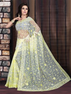 Desent-Lemon-Partywear-Saree-2012
