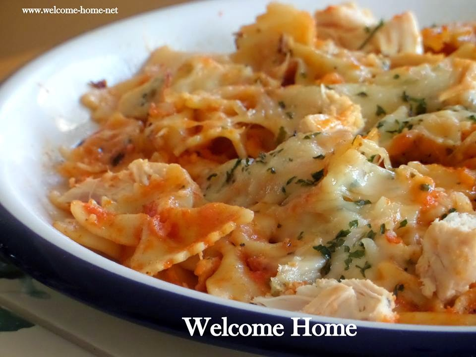 Baked Bow-Tie Pasta With Mozzarella Recipe — Dishmaps