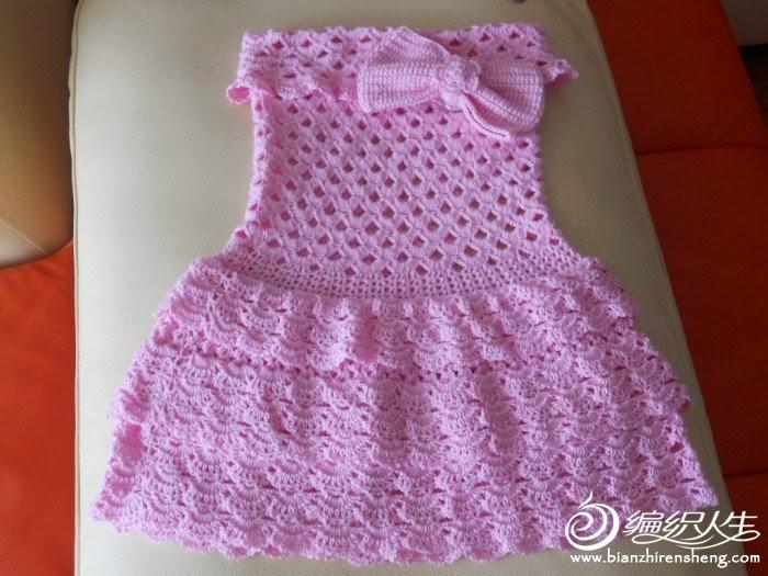 croche com receita vestido bebê rosa aprender croche dvd loja curso de croche