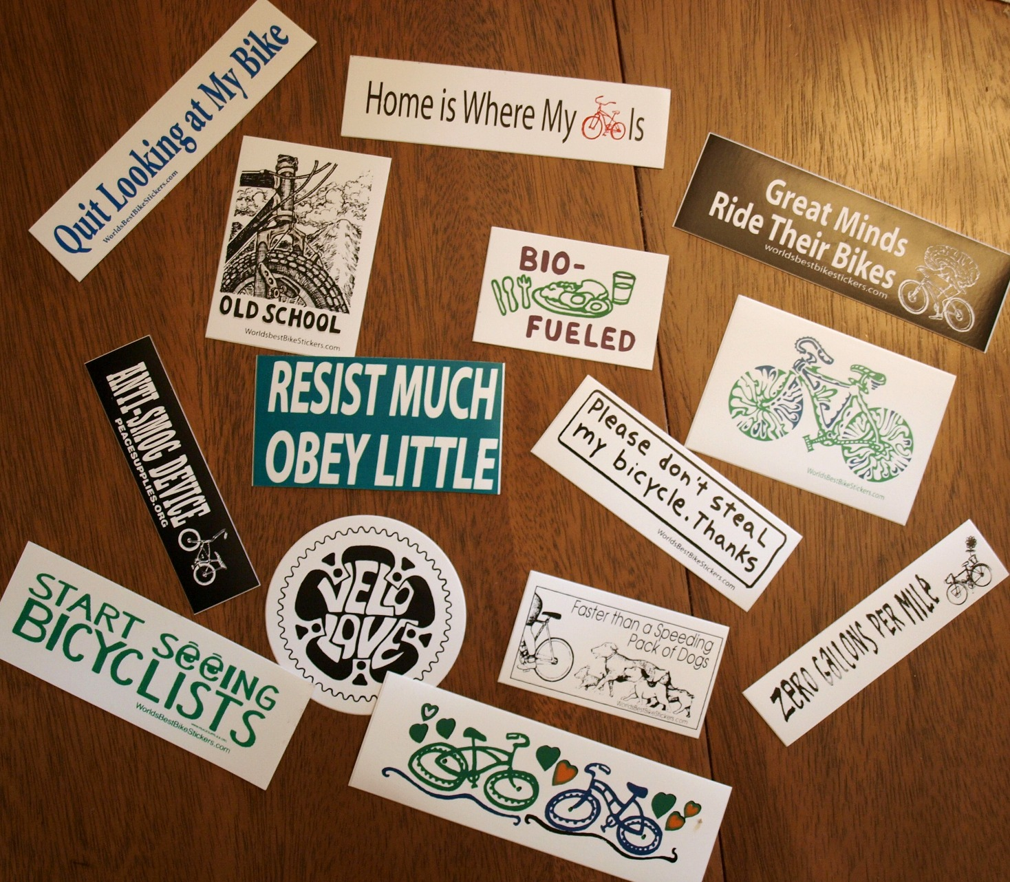 Bike stickers for the 5 year old in all of us