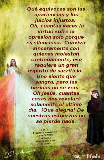 foto con la anotacion de santa faustina en el diario