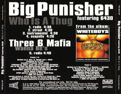 Big Punisher – Who Is A Thug / Three 6 Mafia – Wanna Be's (CDS) (1999) (FLAC + 320 kbps)