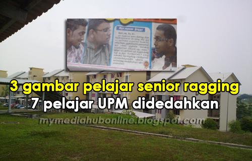 3 Foto Gambar Suspek Pelajar Senior Yang Ragging 7 Pelajar UPM Didedahkan