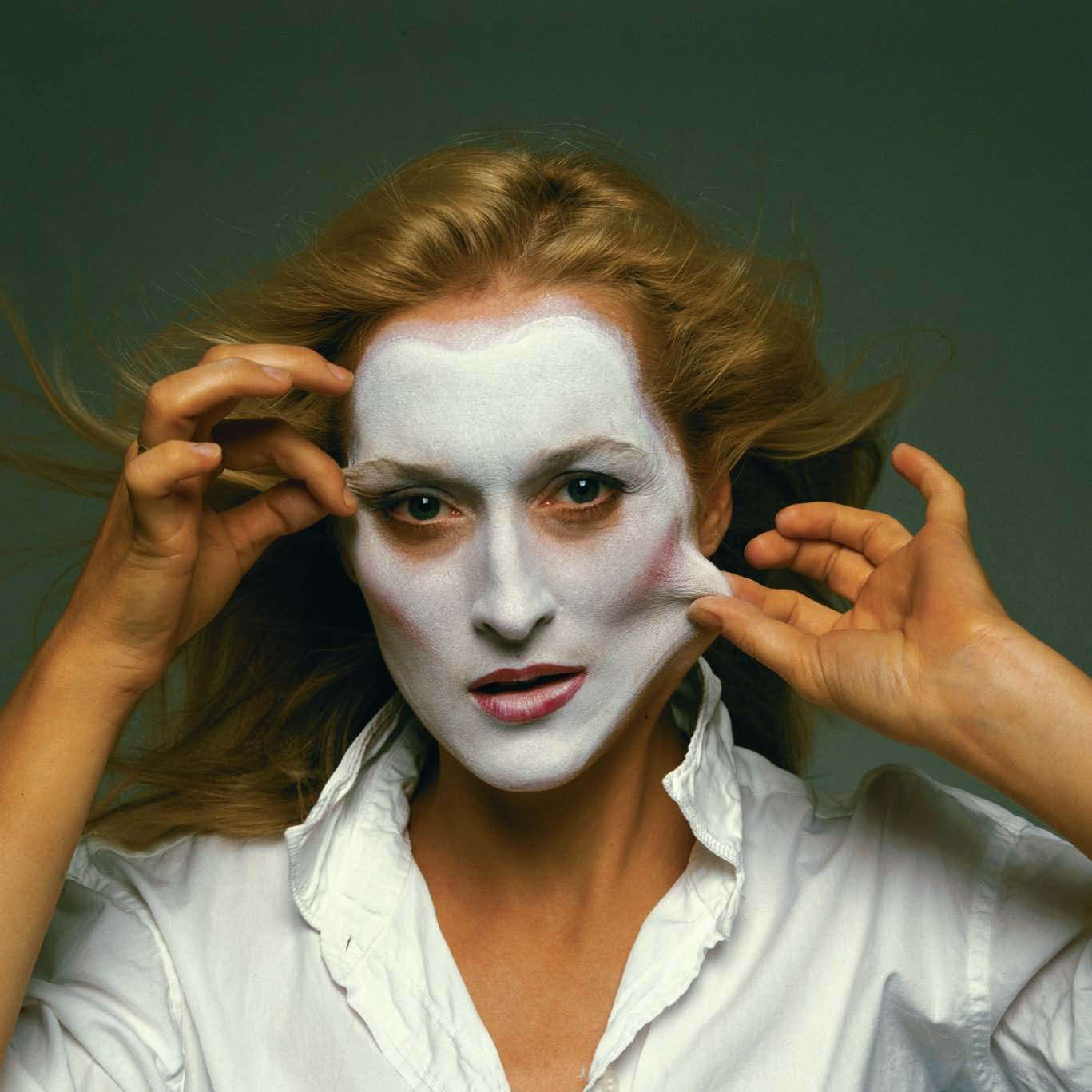 Meryl Streep (The White Top And Facemask Is A Symbol Of An Angelic