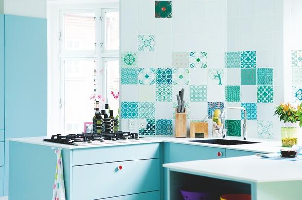 Azulejos Para Baños Color Turquesa:Apartamento de estilo Mediterraneo
