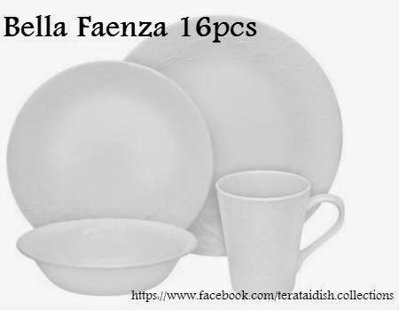 Teratai Dish Collections Corelle ROUND 16pcs New