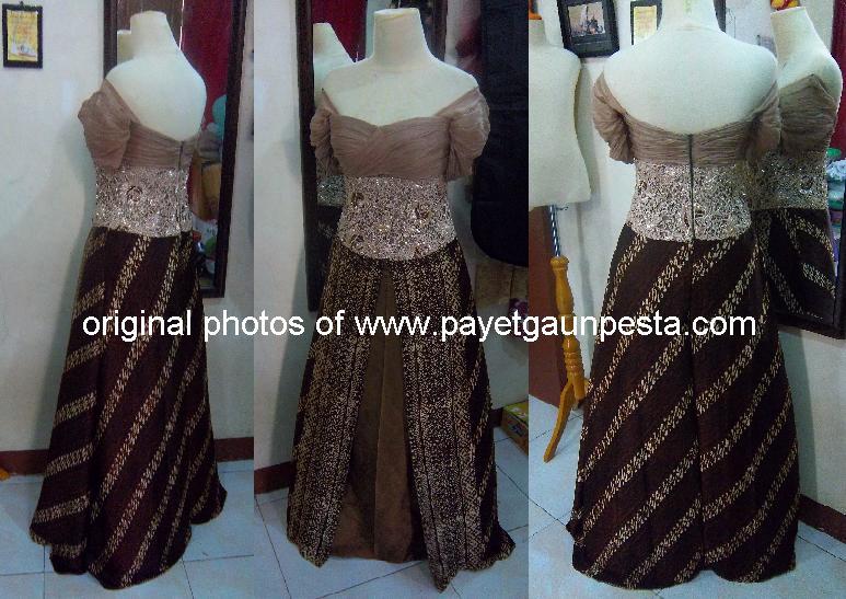 ... Brokat, payet gaun pesta gaun pengantin batik modern dan brokat gaun