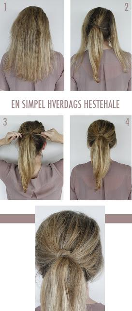 enkelt håropsætning