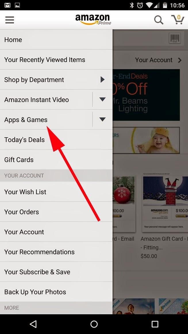كيفية الحصول علي 40 من التطبيقات والألعاب المدفوعة للأندرويد مجاناً من متجر أمازون Up to 220$ in paid Apps & Games free