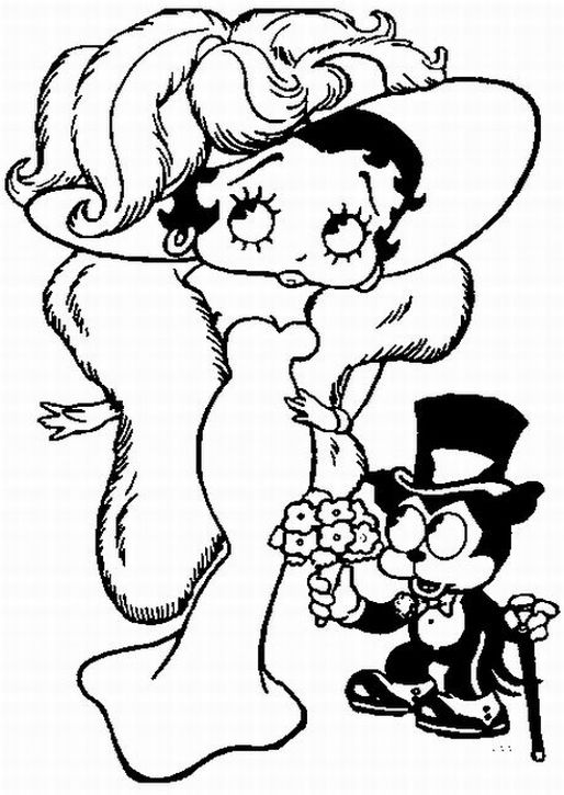 Betty Boop Coloring Pages 002 title=