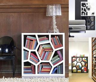 glass shelf 30 of the Most Creative Bookshelves Designs