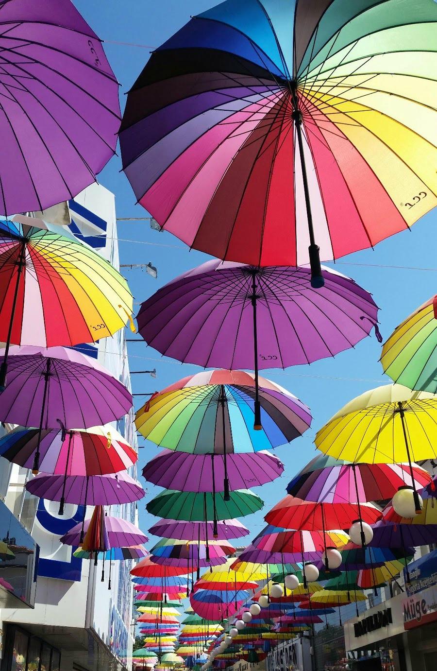 Fethiye umbrellas