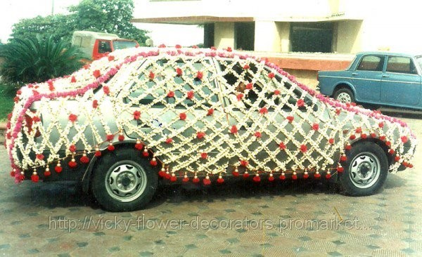 Vicky flower decorators car decoration for Automobile decorations home