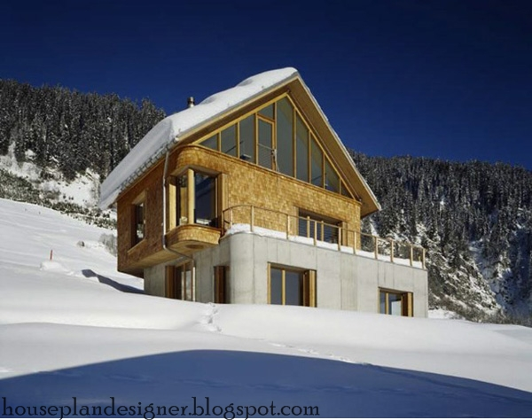 Home design mountain cabin design for Chalet moderne plan