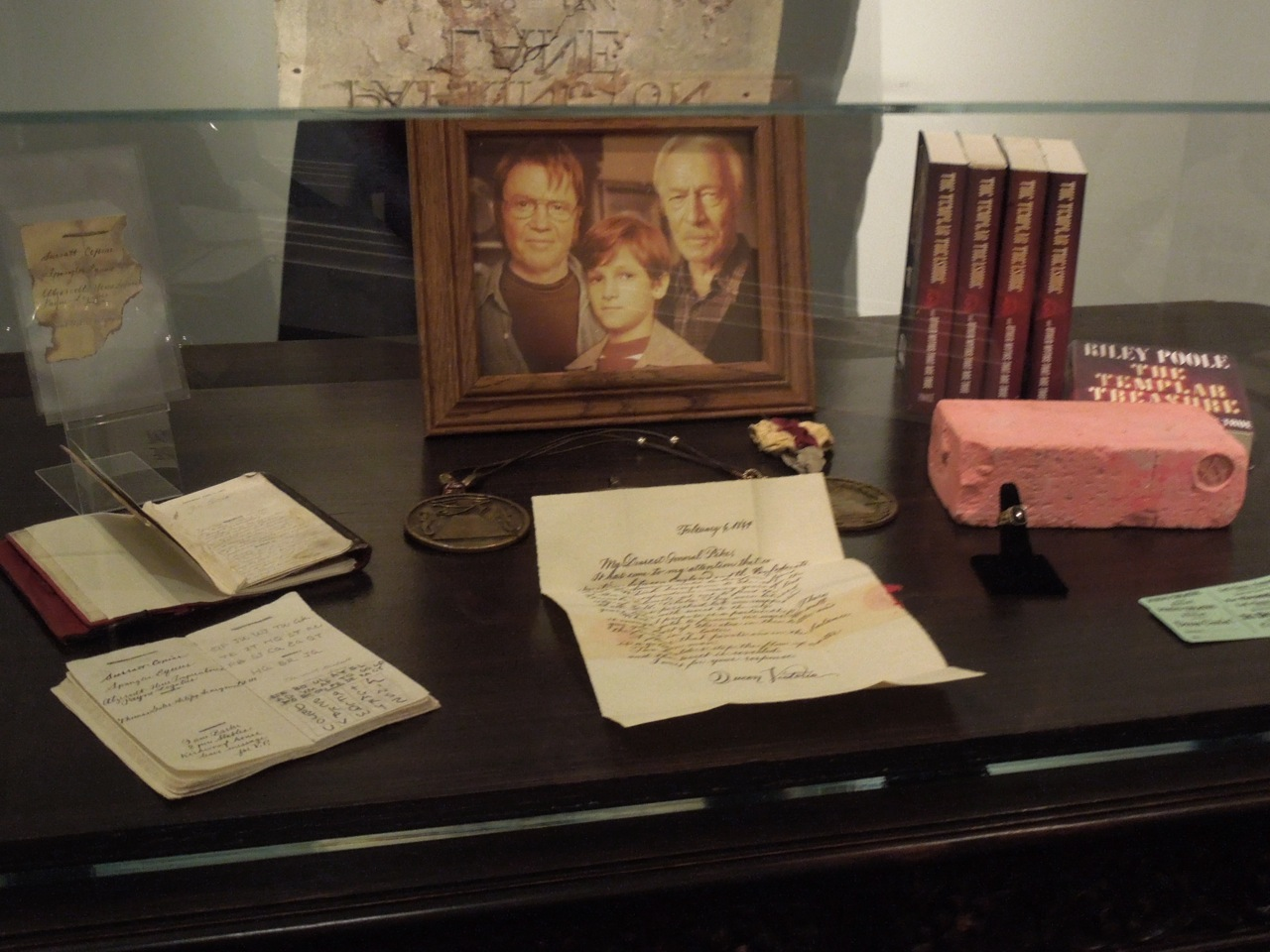 costume and props from national treasure on display