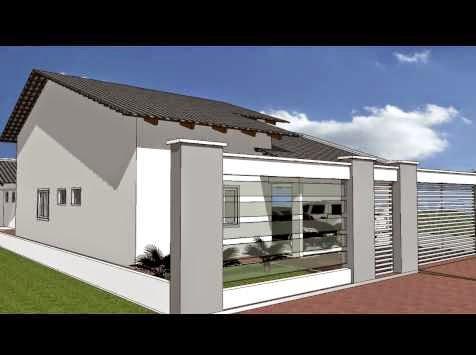 Plantas de casas 3 quartos em 3d for Casas 3d