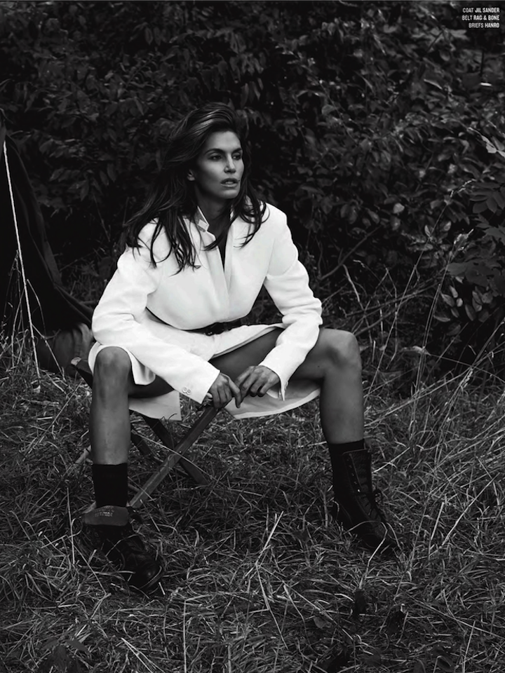 Cindy Crawford And Clement Chabernaud For V #86 Winter 2013/14