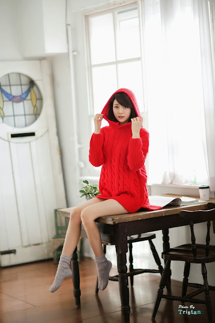 3 Bo Mi in red - very cute asian girl-girlcute4u.blogspot.com