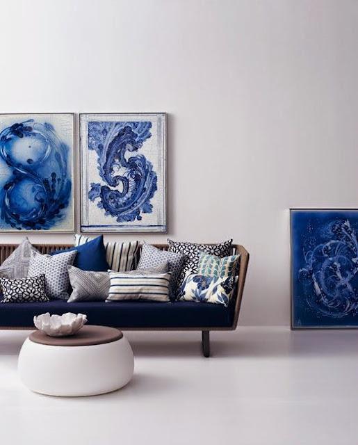 Niebieski kolor we wnętrzach