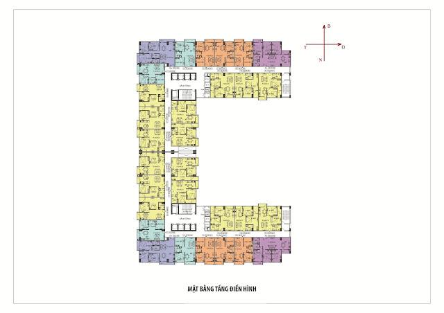 mặt bằng thiết kế căn hộ dự án nhà ở xã hội đồng mô đại kim