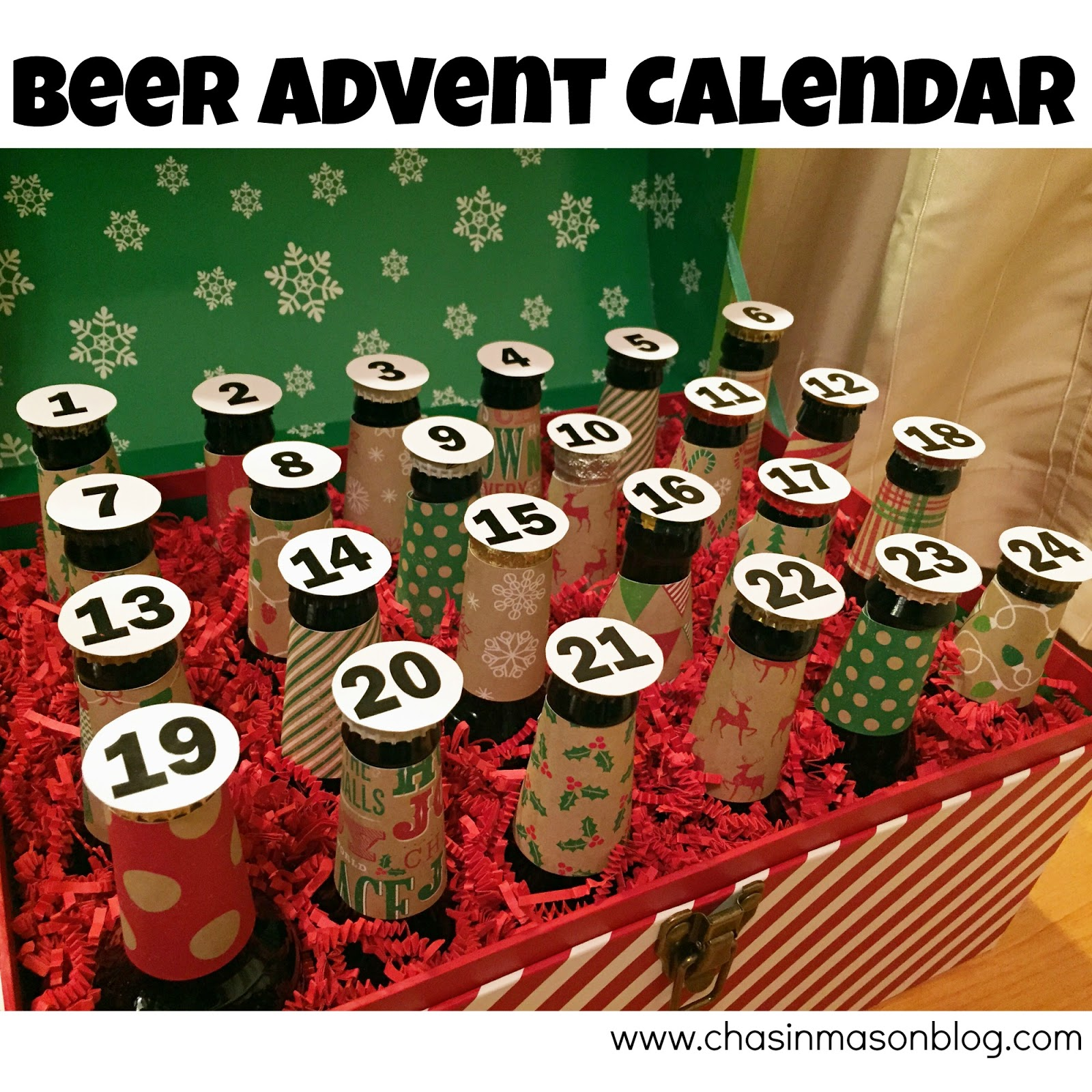 Chasin mason gifts for the husband diy beer advent calendar chasin mason beer advent calendar solutioingenieria Image collections