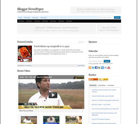 blogger news paper blogger template 25+ Best Free Magazine Blogger Templates for 2013 Download