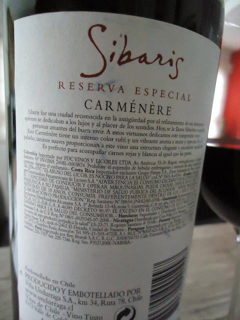 vinho, tinto, Sibaris, carmenére, Undurraga, Chile, chileno