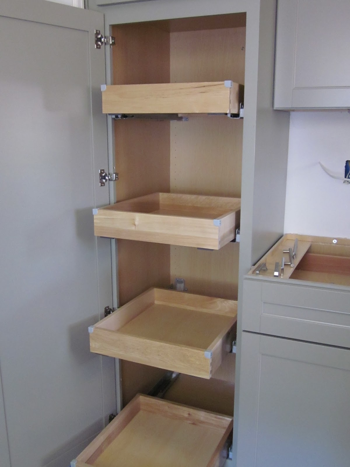 Window Seat Cabinets with Drawers