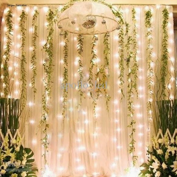 decoracao de casamento que eu posso fazer:pontos de luz, acortina de LED irá fazer do ambiente do seu casamento