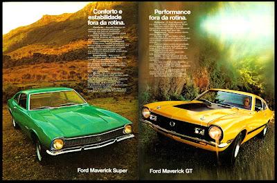 propaganda Ford Maverick Super e Maverick GT - 1973