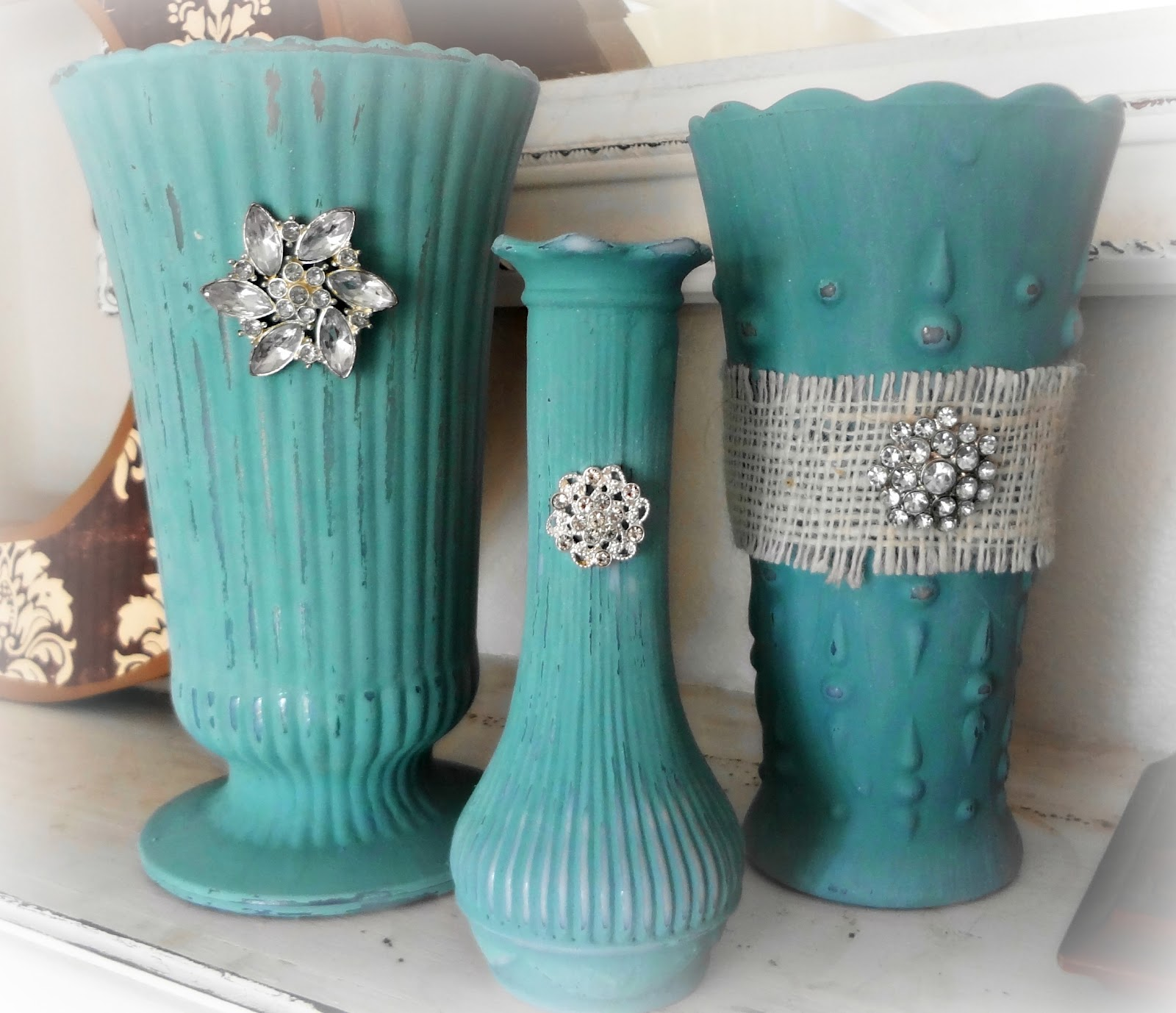 For the love of white painting vases for Paint to use on glass
