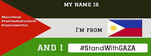 Tukar Cover Photo kepada Stand With Gaza