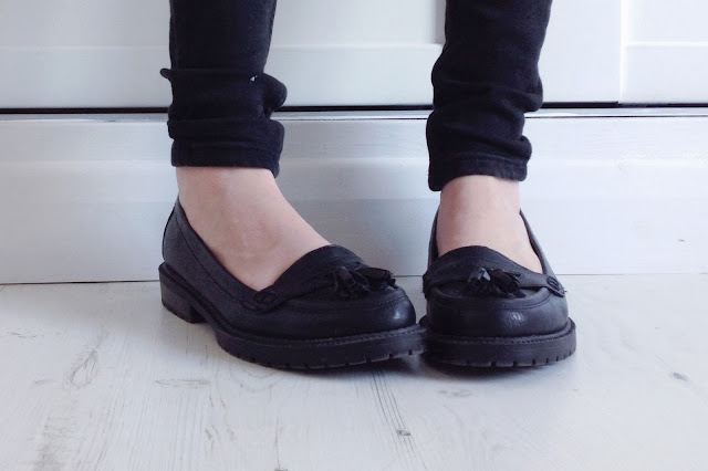 new look chunky loafers