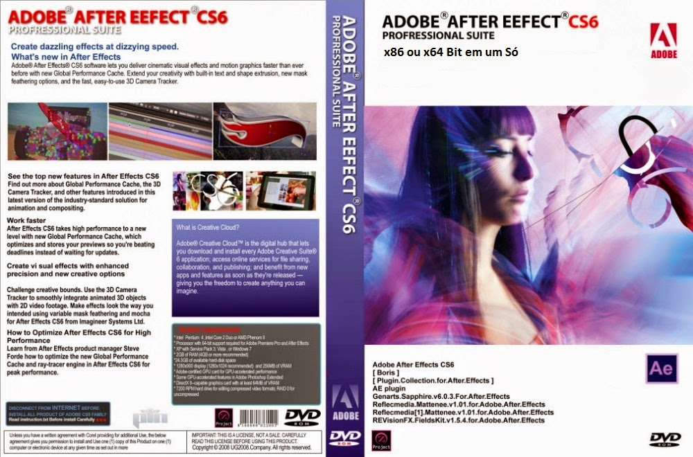 After Effect CS6 DVD Capa