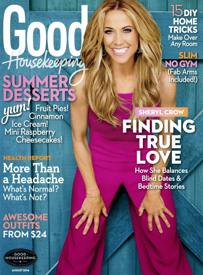 Sheryl Crow - Good Housekeeping Magazine, August 2014