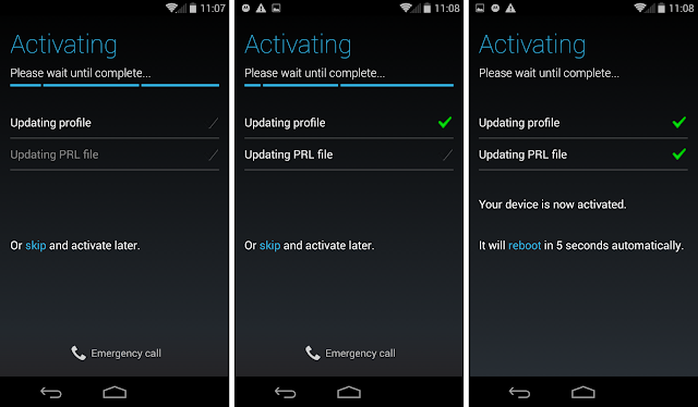 Moto G activating on Ting
