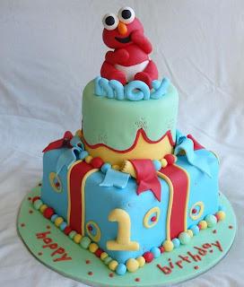 Elmo 1st Birthday Cakes Design
