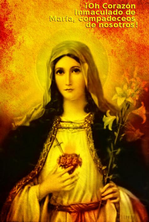 la bendita e inmaculada virgen maria madre del dios por quien se vive y existen las personas