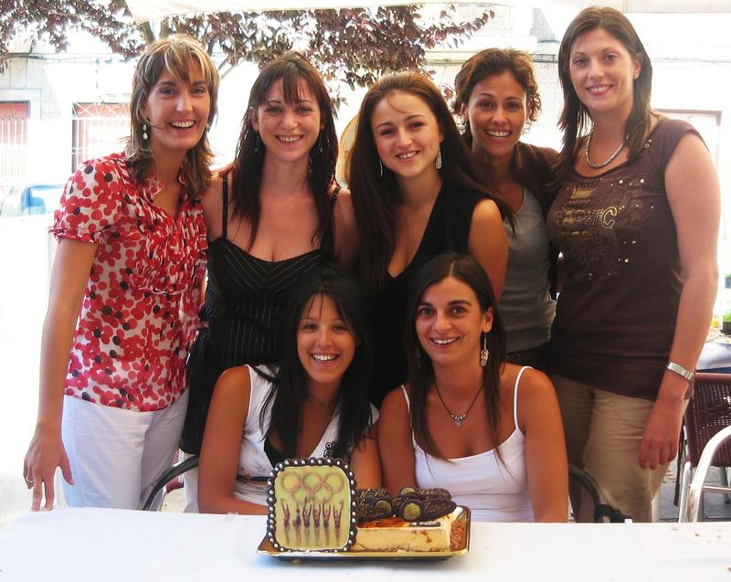 Maider Esparza, Estíbaliz Martínez, Nuria Cabanillas, Estela Giménez, Lorena Guréndez, Tania Lamarca y Marta Baldó, gimnasia rítmica, equipo español