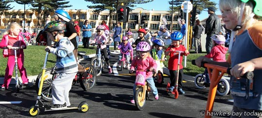 Official opening of the Kids Capital Junior Bike Track, Marine Parade, Napier. photograph